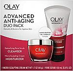 Olay Regenerist Advanced Anti-Aging Cleanser & Face Moisturizer Cream Gift Set $16 and more