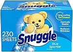 230 Count Snuggle Fabric Softener Dryer Sheets $5.49