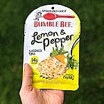 12-pack BUMBLE BEE Lemon & Pepper Seasoned Tuna, 2.5 oz. Pouch $9.67