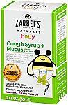 2-oz Zarbee's Naturals Baby Cough Syrup + Mucus (Natural Grape Flavor) $5 & More