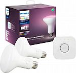 Philips Hue White & Color Ambiance BR30 Starter Kit - Multicolor $69.99