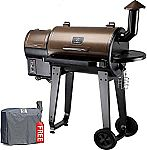 GRILLS ZPG-450A Wood Pellet Grill & Smoker with Auto Temperature Control $295