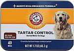 40-Ct Arm & Hammer Dog Dental Care Chews (Tartar Control) $1.50