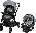Graco Uno2Duo Travel System | Includes UNO2DUO Stroller and SnugRide SnugLock35 Infant Car Seat $225