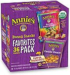 36 ct Annie's Bunny Favorite Packs, Bunny Grahams and Cheddar Bunnies $8.91 and more