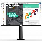 "27"" LG 27QN880-B QHD 2560x1440 IPS HDR10 USB-C w/ PD Monitor w/ Ergo Stand $349 & More"