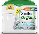 12-Count 23.2-oz Similac Organic Infant Formula Powder (A2 Milk + Formula w/ Iron) $65