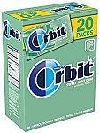 ORBIT Sweet Mint Sugarfree Gum 20 Pack Box 280 Pieces $10.65