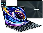 "Asus ZenBook Duo Dual Screen 14"" FHD Touch Laptop (i7-1165G7 8GB 512GB UX482EA-DS71T) $1279.5"