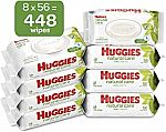 448 Count HUGGIES Natural Care Unscented Baby Wipes, Sensitive $11.90