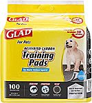 Glad Pets Activated Carbon Puppy Training Pads 100ct $9.89