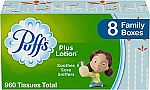 24-Pack 120-Sheet Puffs Plus Lotion Facial Tissues $24 & More