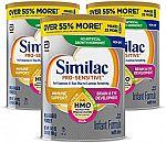 3-Pk Similac Pro-Sensitive Non-GMO Infant Formula $78 & more