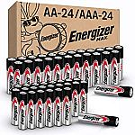 48 count Energizer MAX AA Batteries & AAA Batteries Combo Pack $21.60