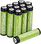 Amazon Basics Rechargeable Batteries: 12-Ct AAA 16-Pack AA Batteries $20