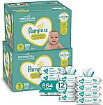 Pampers Baby Diapers (2-mo supply) and Wipes Starter Kit from $93