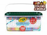 Crayola 168 Color Of The World Crayons w/ Storage Tub $10
