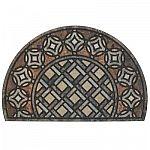 Mohawk Home Deco Tile Slice Brown 23 in. x 35 in. Doorscapes Estate Mat $14.67