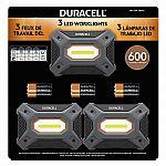 Duracell 600 Lumen Worklight, 3-pack $10