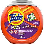 Prime Members: 81-Ct Tide PODS Liquid Laundry Detergent Pacs $14.99