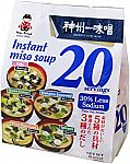 Miko Brand Instant Miso Soup Awase-Variety 10.65 oz (20 servings) $6.65, 8 Servings $3.41