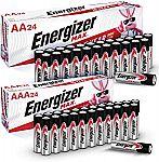 Energizer Max 24-AA + 24-AAA Batteries $16.79
