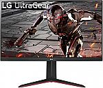 """LG 32GN650-B UltraGear 32"""" 16:9 QHD 165Hz Gaming Monitor with AMD FreeSync $280, 27"""" LG 27QN880-B $320"""