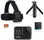 GoPro HERO8 Black Plus Shorty, Head Strap, 32GB SD Card + 2X Battery $279 (Prime Deal)