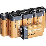 8-Pack Amazon Basics 9 Volt Alkaline Batteries $6.23