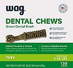 WAG Dental Dog Treats (Tiny, Medium or Large) $7