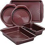 5-Piece Circulon Nonstick Bakeware Set (Merlot Red) $20