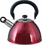 Mr. Coffee Morbern 1.8 Quart Stainless Steel Whistling Tea Kettle (Red) $9