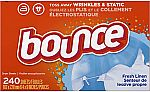 480-Count Bounce Fabric Softener Dryer Sheets (Fresh Linen) $10