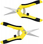 "2-Pack 6.5"" iPower Pruning Shears Hand Pruner $4.80 (Was $10)"