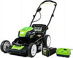 """Greenworks Pro 80V 21"""" Cordless Push Lawn Mower w/ 4Ah Battery $349 and more"""
