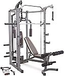 Marcy Smith Cage Machine with Workout Bench and Weight Bar $629