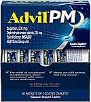 100-Ct Advil PM Pain Reliever and Nighttime Sleep Aid $9