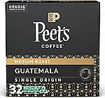 32 Counts Peet's Coffee Single Origin Guatemala K-Cup Coffee Pods $14