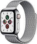 Apple Watch Series 5 (GPS + Cellular, 40mm) -  Stainless Steel Case with Milanese Loop $388