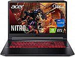 "Acer Nitro 5 AN517-54-77KG 17.3"" FHD 144Hz Gaming Laptop (i7-11800H RTX 3050Ti 16GB 1TB SSD) $1199.99"