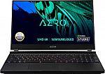 "GIGABYTE 15.6"" 4K OLED Creator Laptop (i7-11800H, 16GB, 1TB SSD, RTX 3060 1TB SSD) $1299.99"
