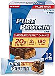 2 x 12-pack Pure Protein Bars (Chocolate Salted Caramel) $15 and more