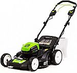 Greenworks Pro 21-Inch 80V Self-Propelled Cordless Lawn Mower, Tool-Only, MO80L00 $186