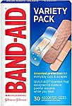 6-pack Band-Aid Brand Adhesive Bandage Family Variety Pack 30 ct $3.13