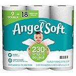 9-pack Angel Soft 2-Ply Bathroom Tissue $3.24