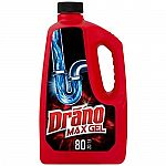 80-Oz Drano Max Gel Drain Clog Remover and Cleaner $4.57