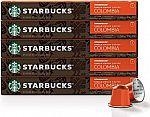 50-Ct Starbucks by Nespresso, Single-Origin Colombia $19.40