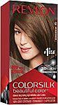 Revlon Colorsilk Beautiful Color Permanent Hair Color: Medium Brown $1.55, Black $2
