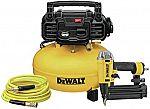 DeWalt 18 Gauge Brad Nailer + 6 Gallon Pancake Air Compressor $179