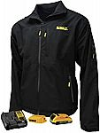 Dewalt Unisex Heated Structured Soft Shell Jacket Kitted (Large) $70